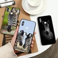 animal zebra black and white print phone case for xiaomi redmi note 7 8 9 t max3 s 10 pro lite coque funda shell cover