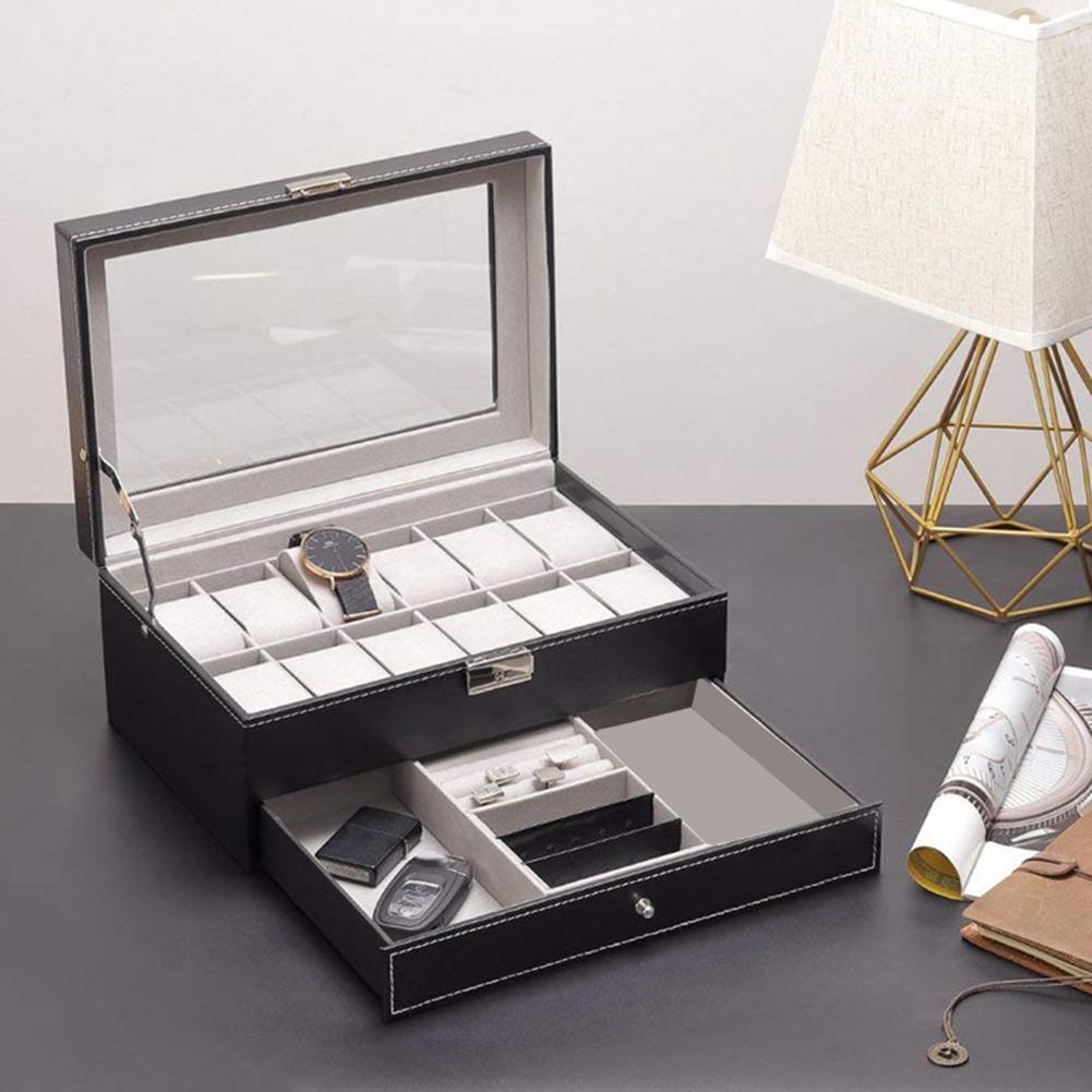 Double jewellery box watch box watch jewelry box open window 12 watch box