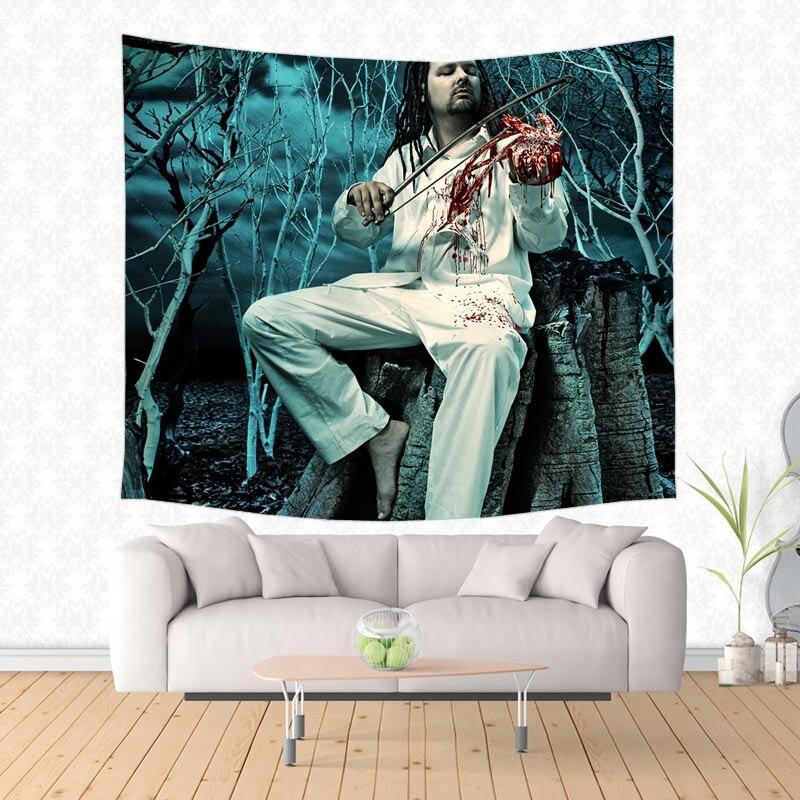 Pared personalizada tapiz banda Korn imprimir tapices de alfombra de acampar Yoga Mat almohadilla para dormir en casa Decoración