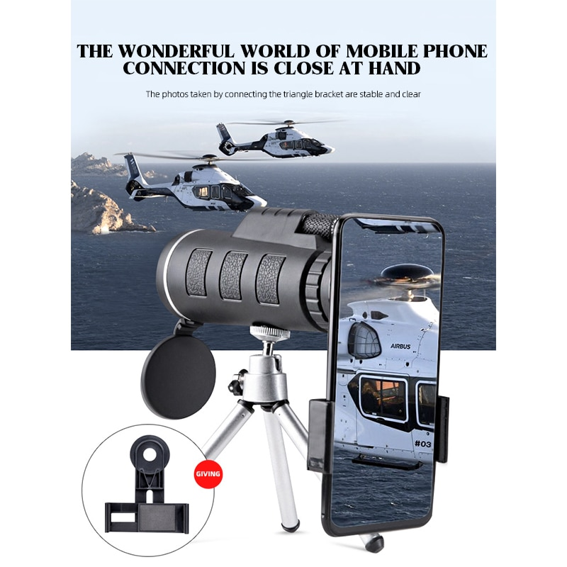 Telescopio monocular de bolsillo con visión nocturna para acampada... prismáticos con zoom...