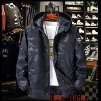autumn plus size camouflage hooded jacket 5xl 10xl plus size waterproof mens casual sports loose waterproof windbreaker jacket