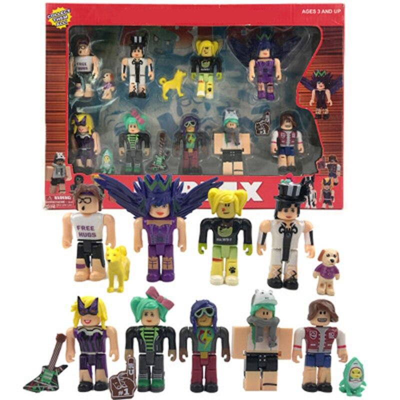 Figura de acción de juegos ROBLOX de 20 estilos, héroes de juguete para decoración, colección de bloques colectibles, modelo en caja, juguete para regalo de niños