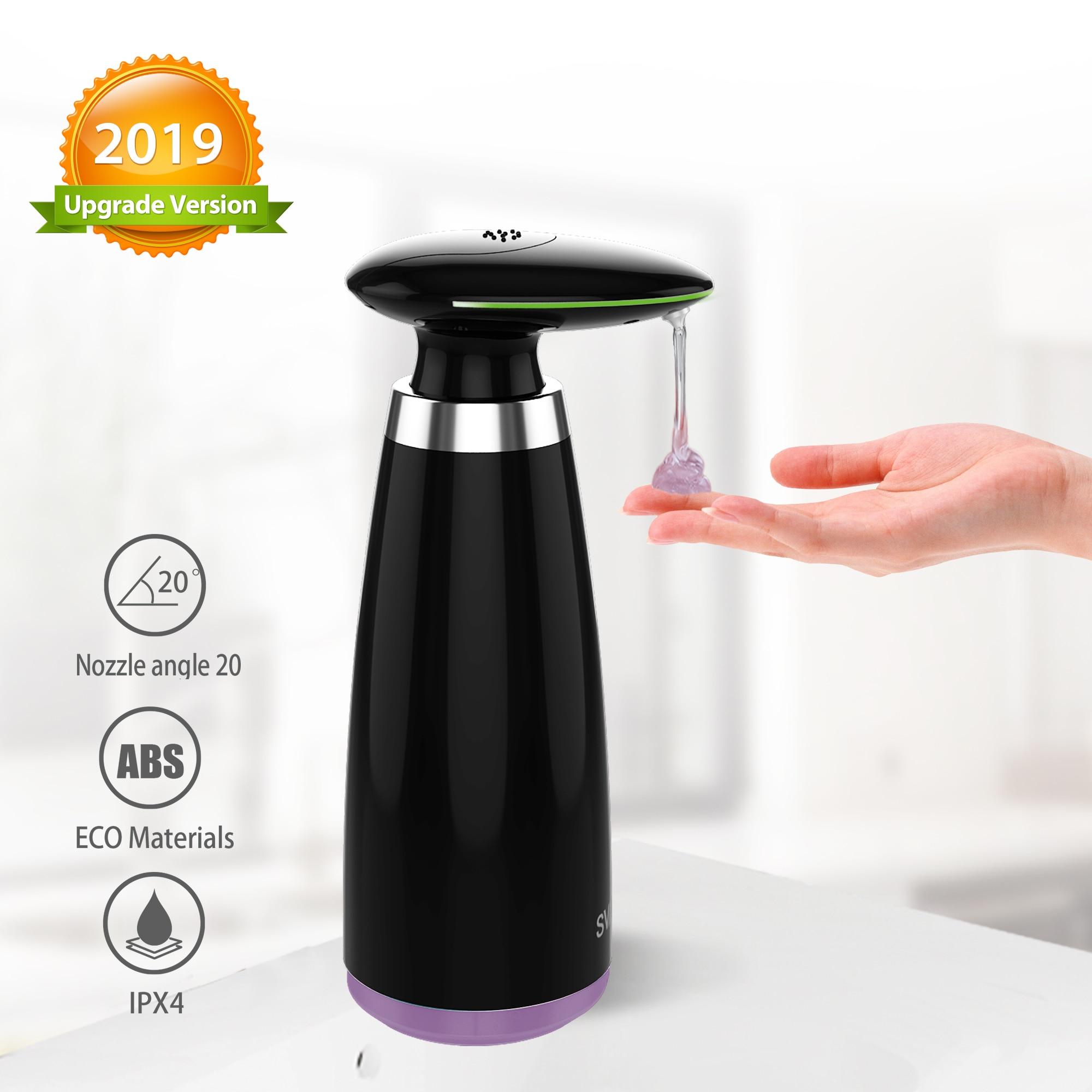 SVAVO-موزع صابون أوتوماتيكي مع مستشعر حركة الأشعة تحت الحمراء ، 350 مللي ، بدون تلامس ، للحمام والمطبخ