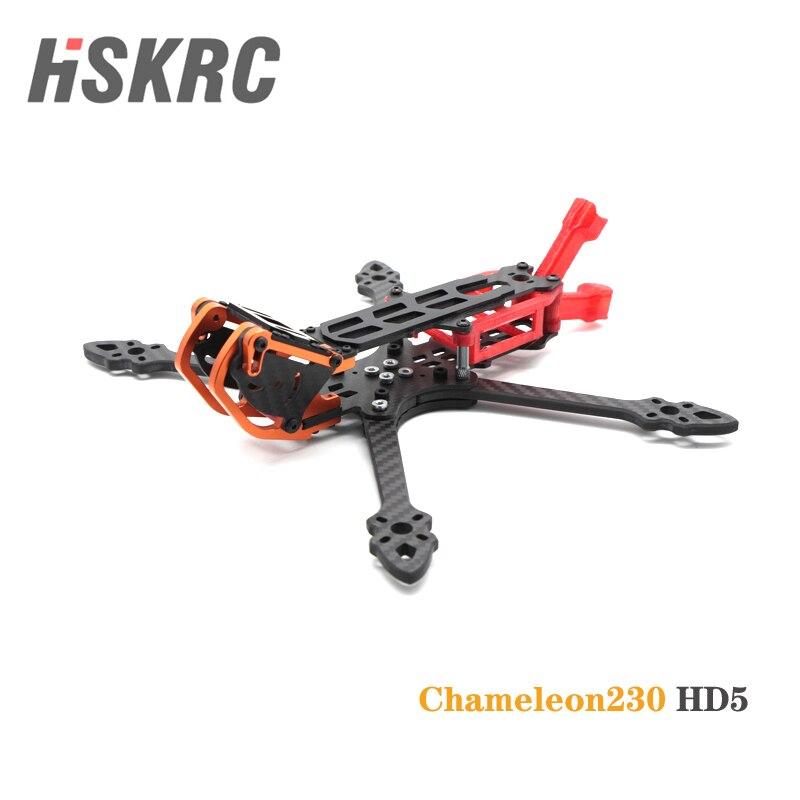 HSKRC Chameleon230 HD5, Kit de 5 pulgadas de marco de fibra de carbono compatible con FPV, unidad de aire para Dron de carreras con visión en primera persona
