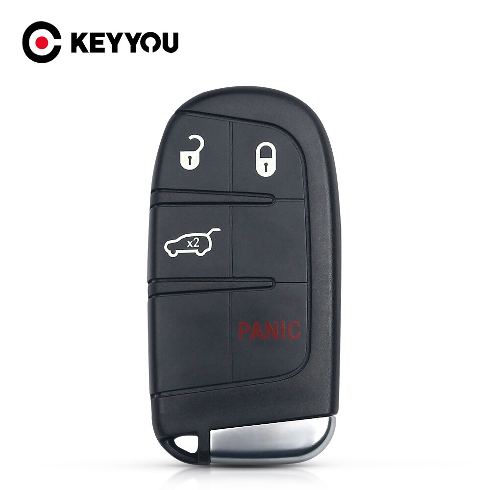 Чехол KEYYOU для Chrysler Dodge Journey 2011-2015 без ключа Fob для замены смарт-пульт дистанционного ключа для автомобиля 4 кнопки Uncut Blade