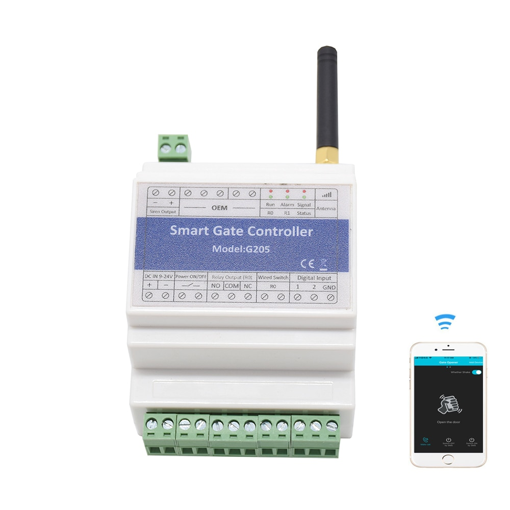 Interruptor de relé de control remoto GSM G205 para abridor de obturador de barrera de puerta (reemplazar RTU5025)