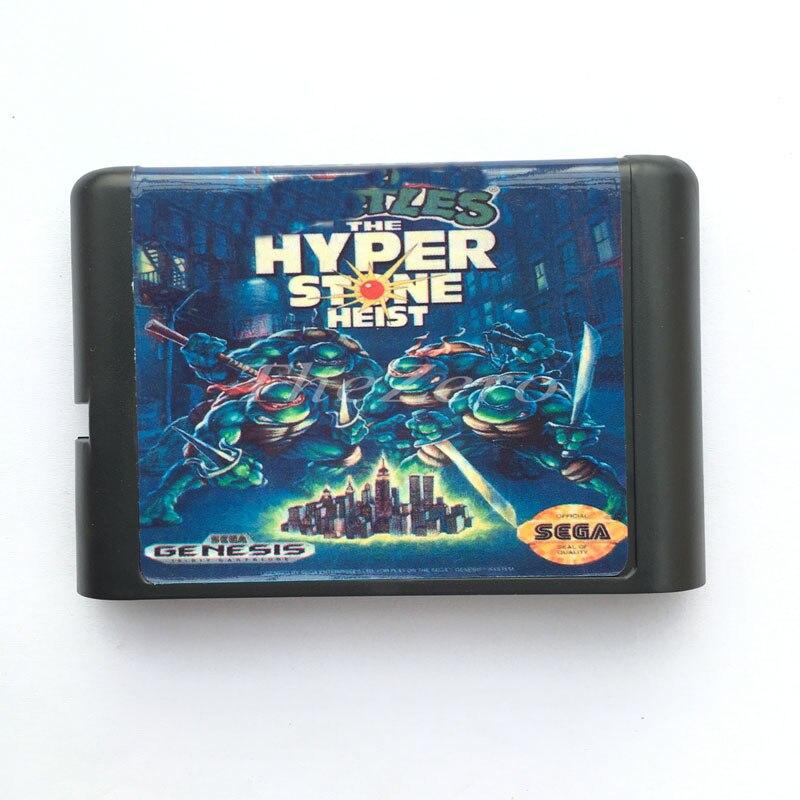 Turt The Hyperstone Heist EU/JAP оболочка для 16 битной игровой карты для системы Genesis для sega Mega Drive