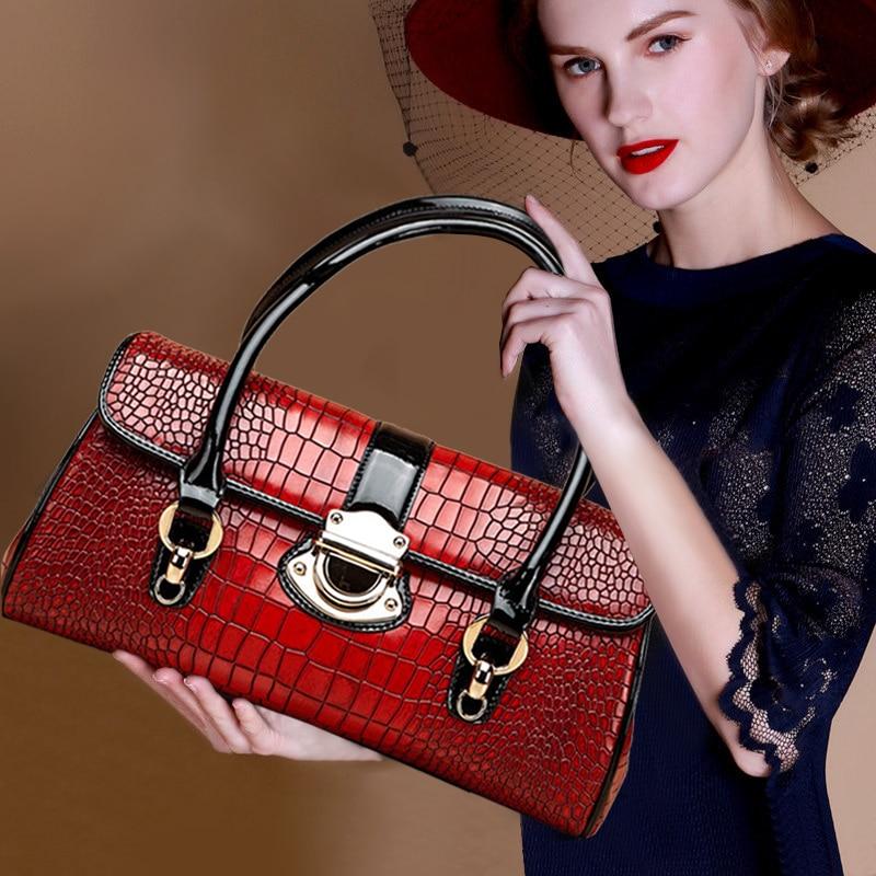 حقيبة يد جلدية أصلية للنساء ، حقيبة كتف كبيرة ، حقيبة عصرية متناسقة ، حقيبة مزاج نسائية ، مجموعة جديدة 2021