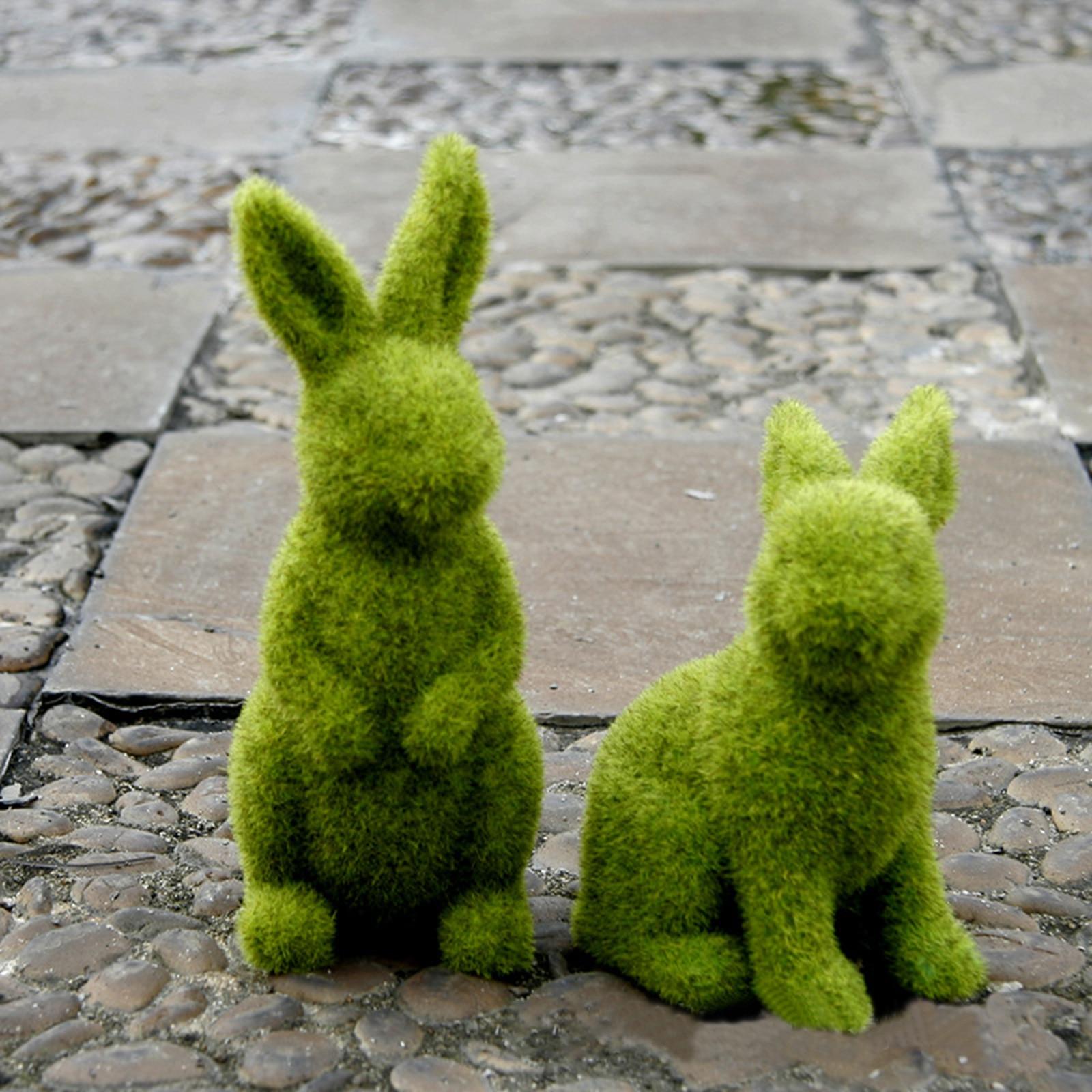 Пасхальный кролик Искусственный Кролик Кукла «животное» из смолы, кролик, кукла, домашняя модель для пасхальную тему с изображением кролик...