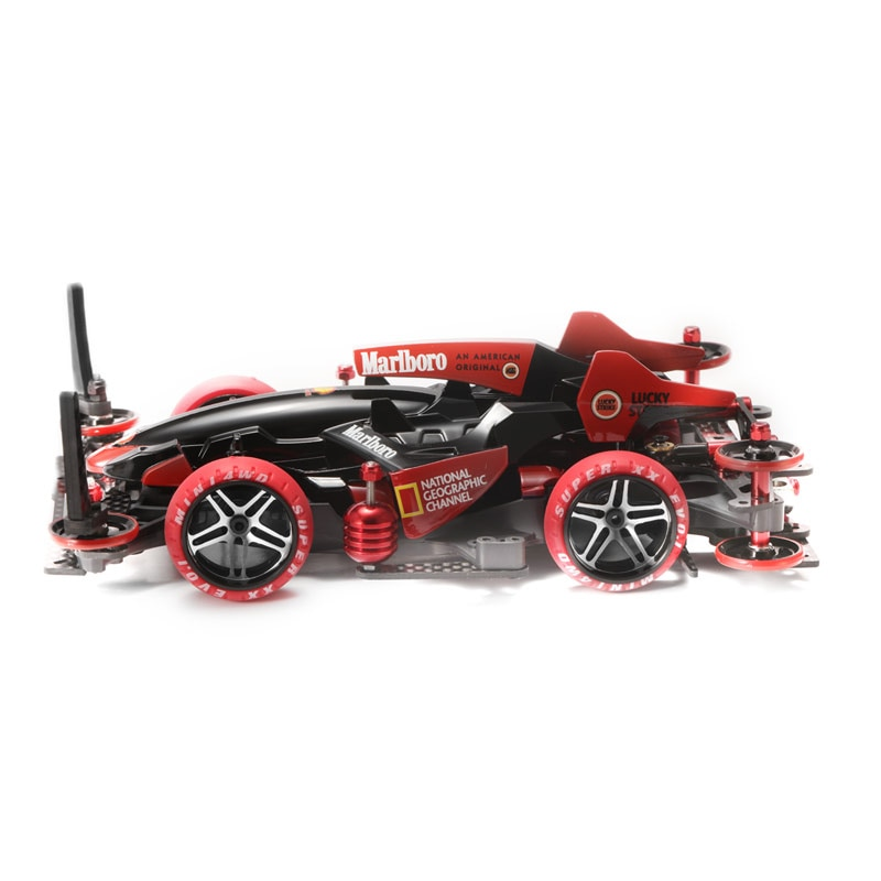 Tamiya 18641 Mini 4WD Assembled 1/32 Sprint Meteor Hand Painted Modified Racing Car MA Chassis With Upgrade Package Accessories enlarge