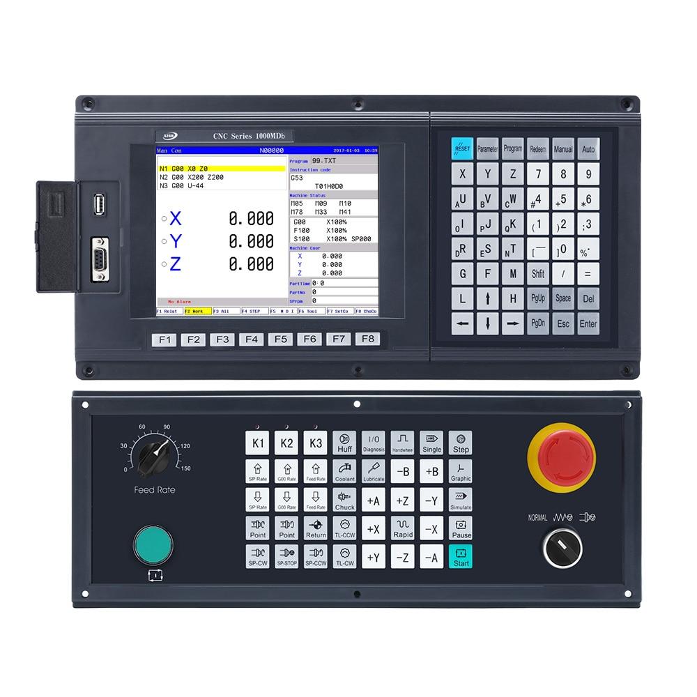 Controlador CNC de fresado de 3 ejes de alto rendimiento con CNC1000MDb-3 USB