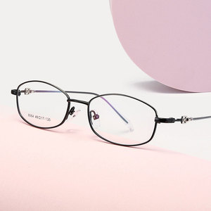 Fashional Female Half Rim Spectacles Reteo Business Style Metal Frame Glasses  Myopia Eyewears