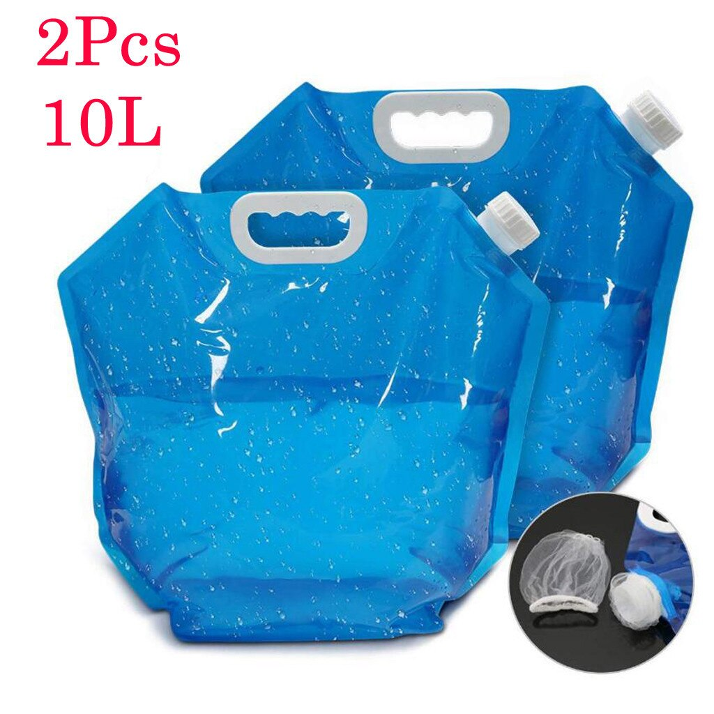 10L Ao Ar Livre Saco de Água Portátil Grande Capacidade de Saco de Alpinismo Ao Ar Livre de Água Portátil Dobrável Saco De Água De Acampamento
