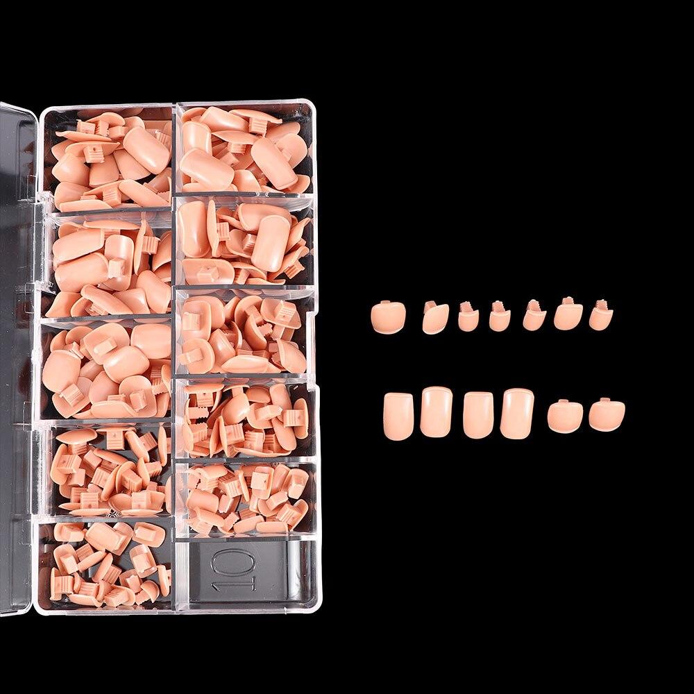 Falsas para Treinamento Unidades Pacote Profissional Substituição Prego Dicas Flexíveis Ajustáveis Unhas Mão Manicure Prática 200 –