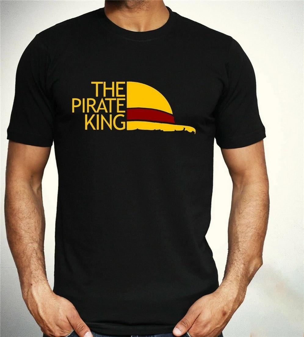 Una pieza camiseta el rey pirata divertida parodia Luffy Zoro Anime Top Mens S XXL camiseta de talla grande
