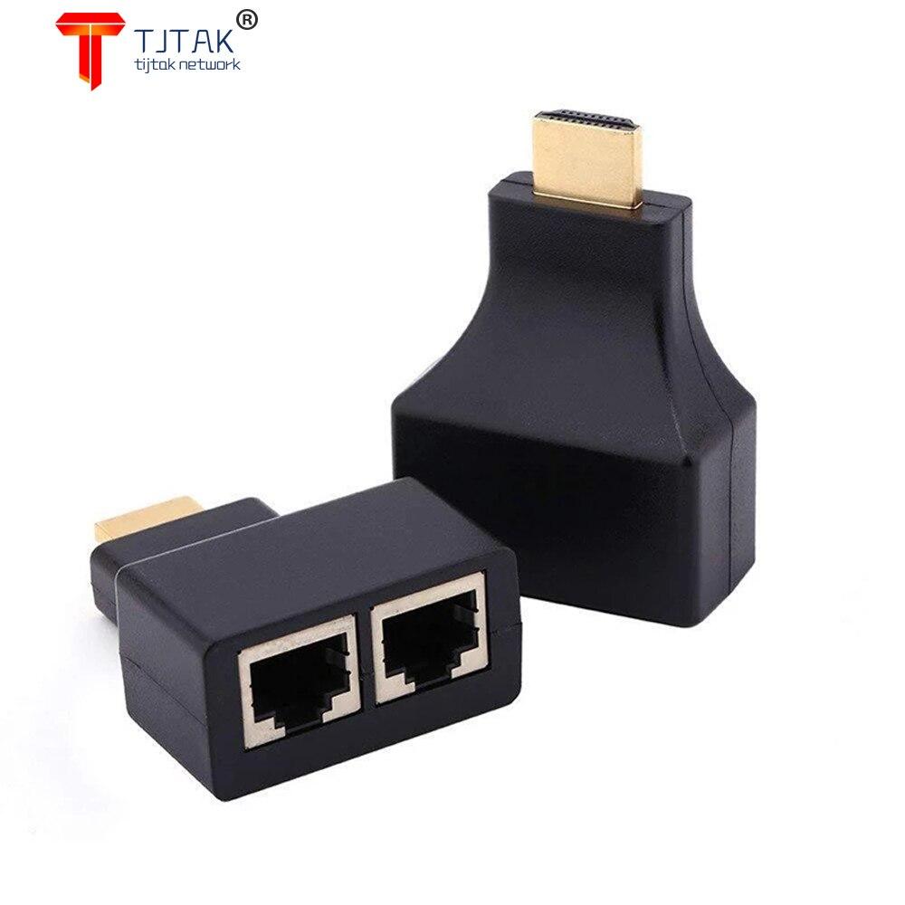 1 PAR HDMI Adaptador DE Extensao Video RJ45 máx. 30 M Dual...