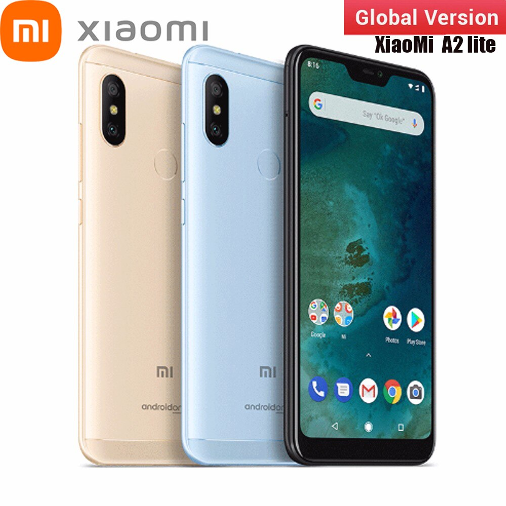 Глобальная версия Xiaomi Mi A2 Lite смартфон, 3 Гб оперативной памяти, 32 Гб встроенной памяти RAM 5,84 дюймов полный экран Snapdragon 625 12MP + 5MP 3 камеры передне...
