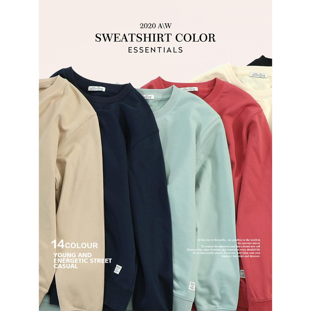 SIMWOOD 2021 spring New Hoodies Men Casual Minimalist Sweatshirt O-neck Embroidery logo Plus Size Basic Pullover  SI980547
