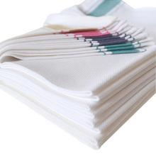 10 panos de limpeza absorvente, pano de algodão para mistura de linhas, fácil de lavar, toalhas práticas e macias, retangular, limpeza grande