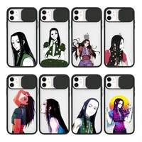 illumi zoldyck hunter x hunter phone case transparent for iphone 7 8 11 12 se 2020 mini pro x xs xr max plus