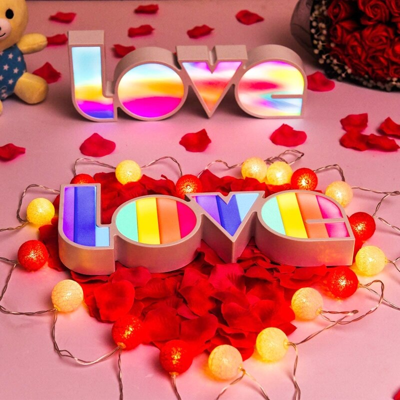 LOVE LED Night Light Kids Bedroom Desktop Home Decor Table Lamp Ornaments Battery/USB Operate Fairy Lights For Christmas Gifts