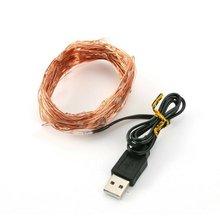USB медная проволока гирлянда Рождественские Светодиодный светильник украшения медная проволока практичная звезда гирлянда