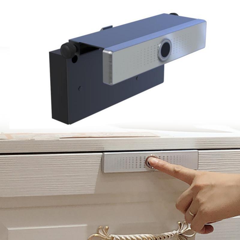 مكافحة سرقة ذكي درج خزانة صغيرة باب غرفة المكتب المنزل الذكي المعيشة قفل ببصمة الأصبع مكتب سبائك الزنك معدن الكهربائية آمنة