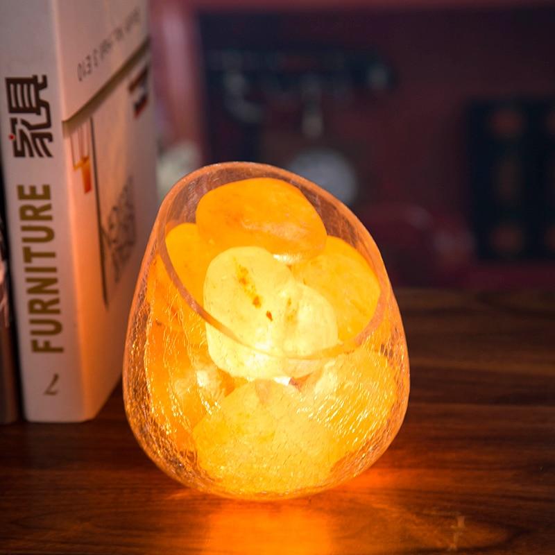 1 шт. Hymalayan соляная лампа Европейская спальня светодиодная прикроватная лампа с регулируемой яркостью настольная лампа