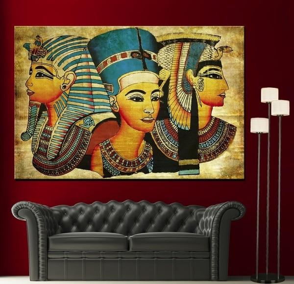 Venta caliente decoración del hogar pintura al óleo sobre lienzo arte de la pared decoraciones de pared lienzo, viejo Papyrus egipcio