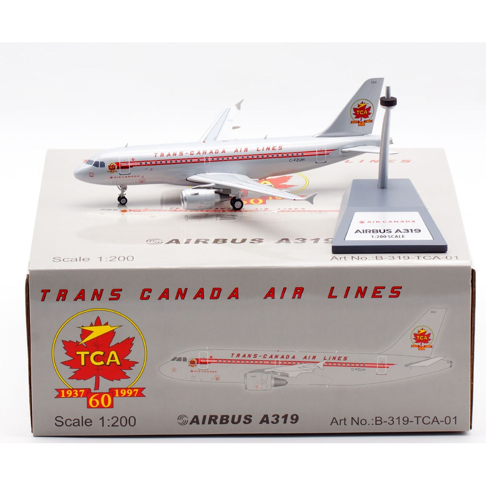 1:200 Alloy Collectible Plane Gift B-319-TCA-01 Air France Airbus Airbus A319 Diecast Aircarft Jet Model C-FZUH With Stand