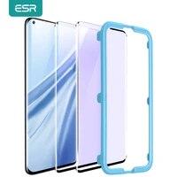 esr tempered glass for xiaomi mi 11 pro anti blue light glass full cover screen protector for xiaomi mi 1098 se soft tpu film
