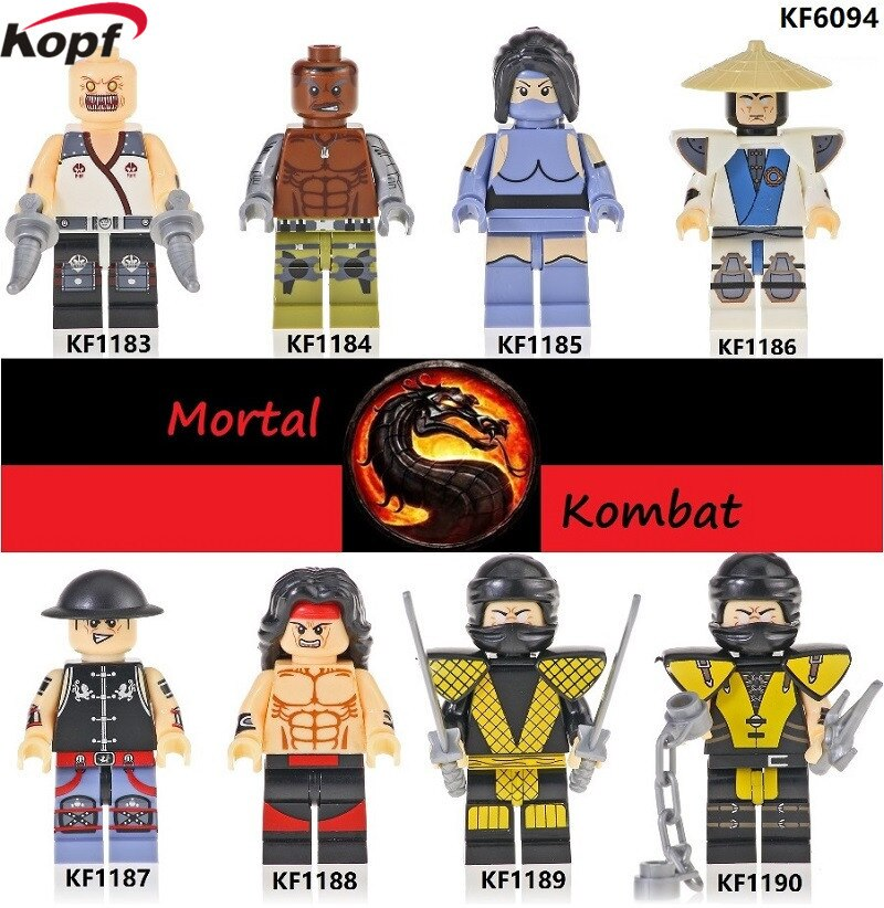 Mortal Kombat Bricks Building Blocks Sub-Zero Johnny Cage Goro Raiden Baraka Scorpion Action Figures For Kids Gift Children Toys