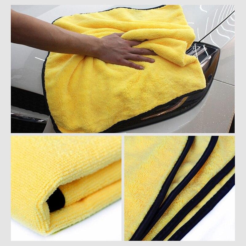 3 uds 300GSM 92x56Cm Toalla de microfibra para lavado de coche paño de Secado y limpieza de gran tamaño Toalla grande para el cuidado del coche