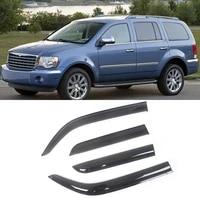 for chrysler aspen 2007 2010 auto side window wind deflectors visors black rain guard door visor vent shade dark smoke ventvisor