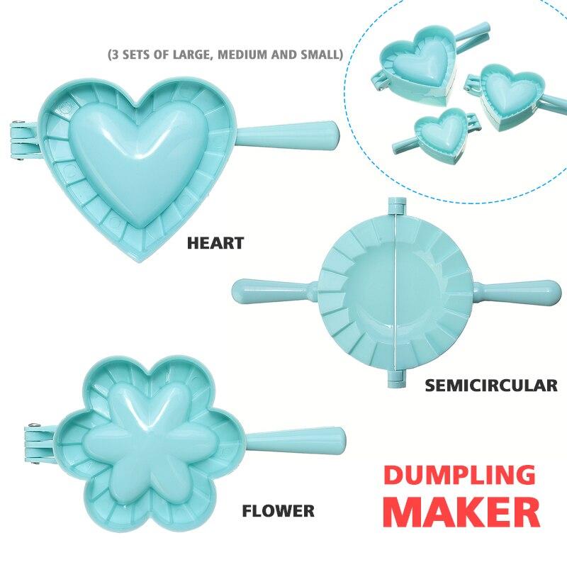 Новинка 2021, инструмент для изготовления пельменей своими руками, Пластиковая форма в форме сердца, бабочки, пельменей, зажимы, формы для вып...