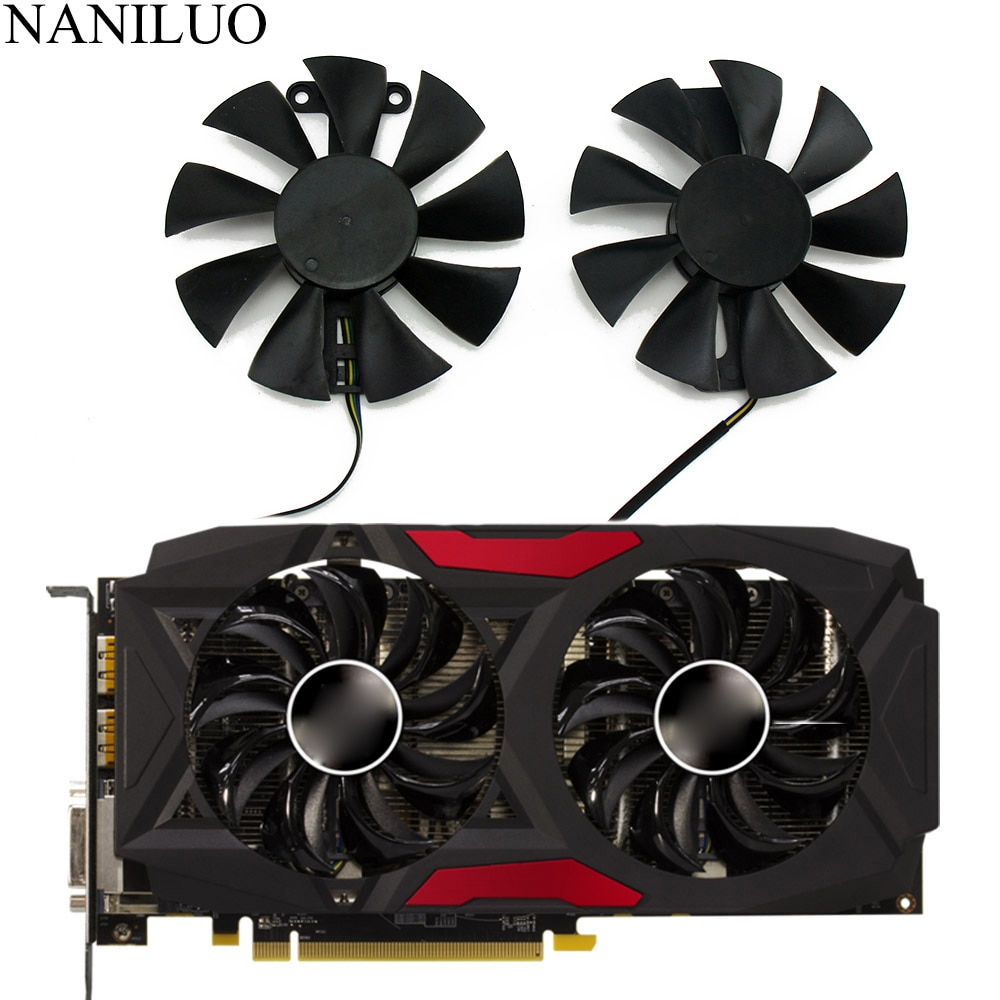 GA91S2U PowerColor Red Devil RX580 GPU Cooler Cooling Fan For Radeon Red Dragon AX RX 480 470 580 Video Cards As Replacement Fan