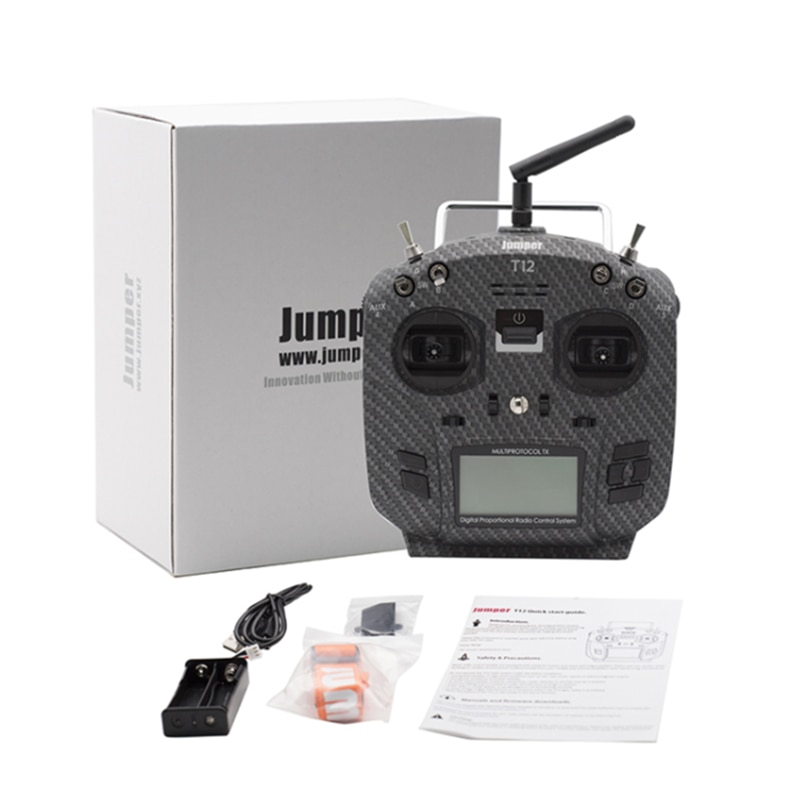 Jumper T12 Pro Open Source 16ch Radio JP4-in-1 Multi-Protocol 2.4inch LCD RF Module Wi/ HALL Gimbal OpenTX for RC Drone