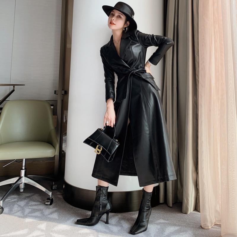 2021 Winter Fashion Long Sleeve Pu Women's Jacket Coats womens coat  leather blazers women  leather jacket  woman jacket  coat enlarge