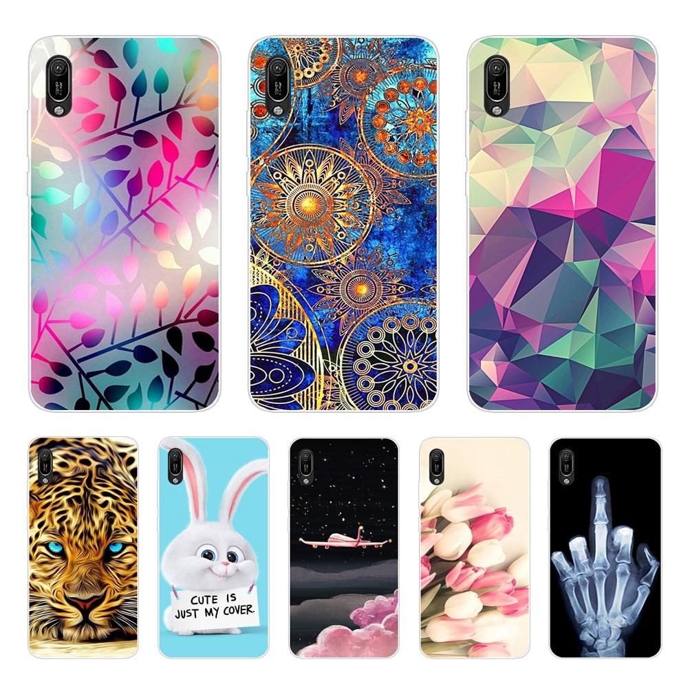 for Huawei Y6 pro 2019 case bumper Silicon TPU phone Cover on For Huawei Y6 2019 MRD-LX1 MRD-LX1F Y 6 pro Y6Prime coque fundas