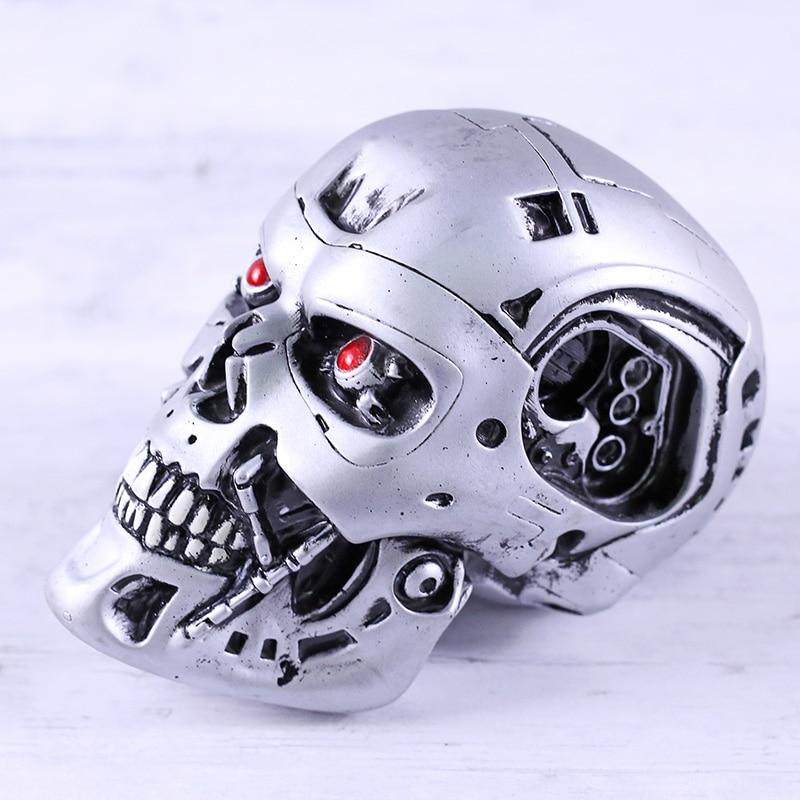 Terminator 2 judging Day T-800 endoesqueleto cráneo cabeza modelo coleccionable PVC figura de juguete
