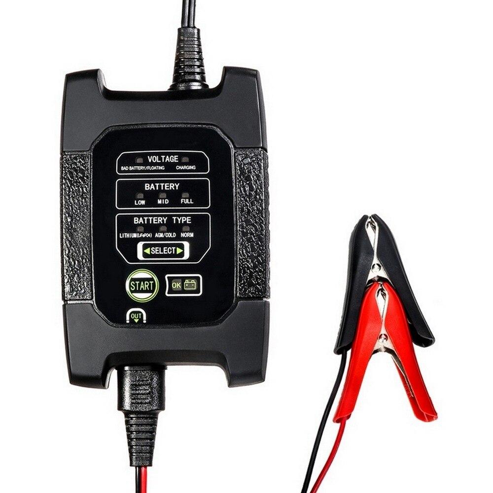 Cargador de batería de coche inteligente Dc 6v y 12v con pantalla Led que proporciona un estado de carga Visual impermeable del cargador del coche de Metal de la prueba de la batería