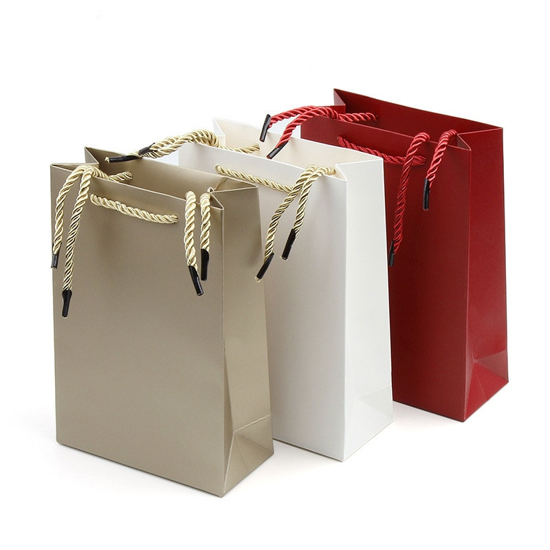 New paper bag color like open top gift box gift box paper processing gift bag wholesale