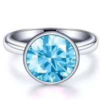fashion new ladies ring round multicolor zircon smooth titanium steel stainless steel ring factory direct sales
