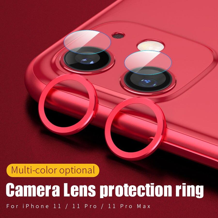 Для iPhone 11 Защитная пленка для объектива камеры стекло для iPhone 11 Pro Max чехол задняя камера кольцо задняя крышка защитный чехол