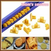 alphabet number letter cake mold chocolate mold cookie mold biscuit stamp fondant mold kitchen gadgets cake decorating tools
