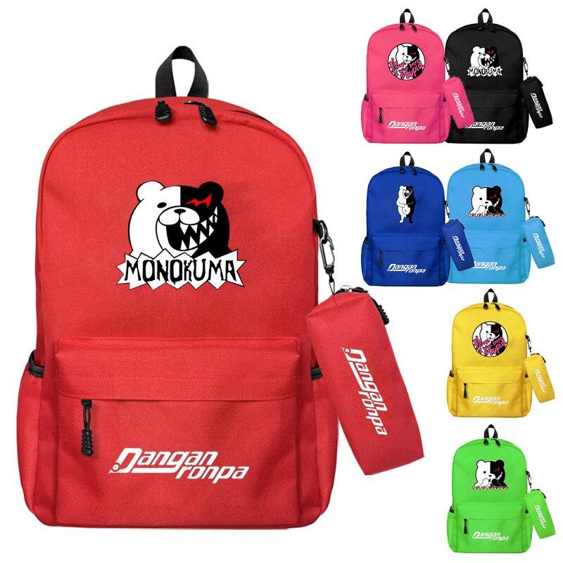 Anime Game Backpack 2Pcs Teenagers Backpack Rucksack for School Boys Girls Rucksack Junko Laptop Men