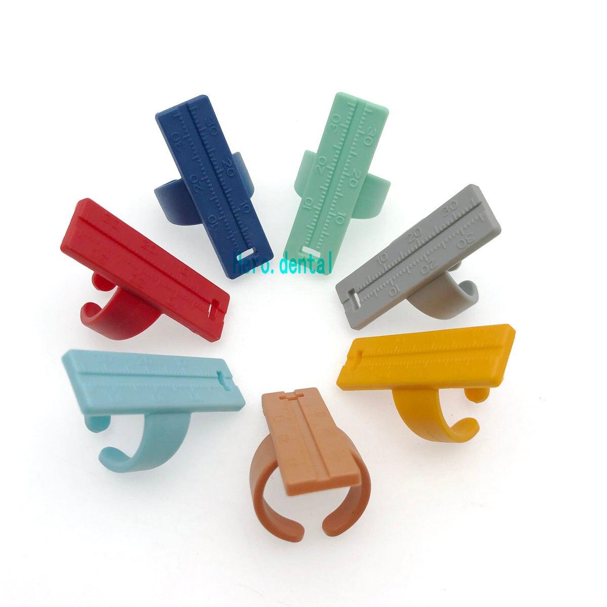 1pc dental raiz canal agulha dedo régua endo medida escala endodontic instrumento endo caixa