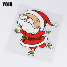 YOJA 13.6X16CM Happy Santa Fashion Car Body Decoration Stickers Accessories ZT4-1014