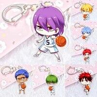 new kuroko no basket acrylic keychain pendant car key accessories cute japanese cartoon kurokos basketball