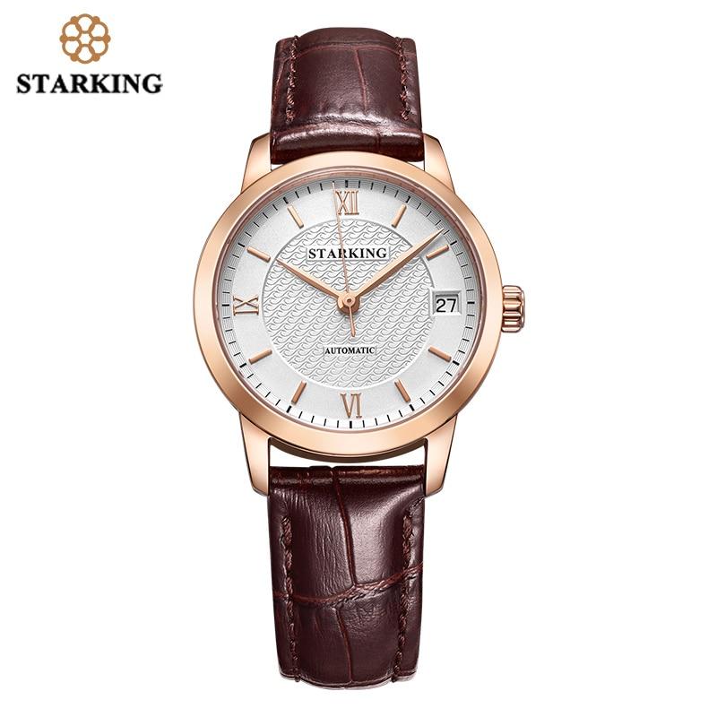 STARKING Automatic Women Watches Top Brand Luxury Ladies Watch Auto Date Mechanical Female Dress Watches White Relogio Feminino enlarge